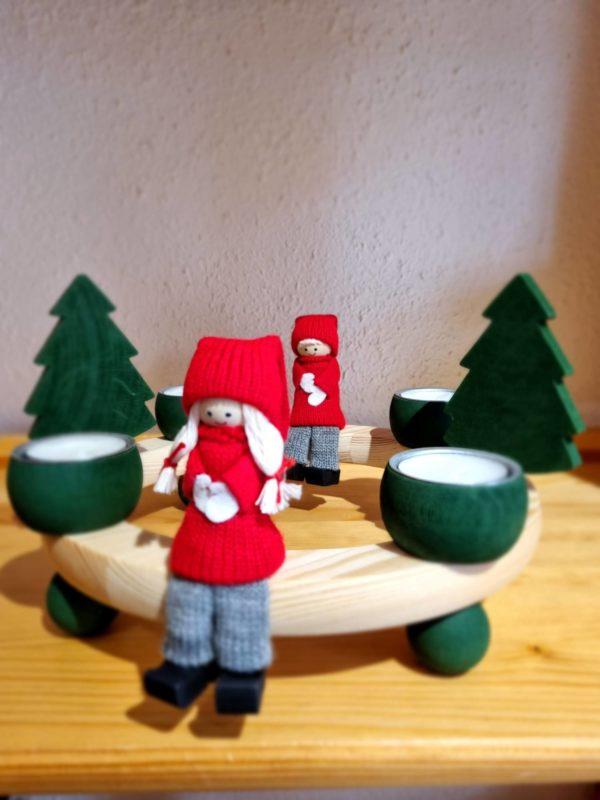 Skandinavische Weihnachtskränze